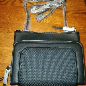 NWT, Steve Madden  Black crossbody.